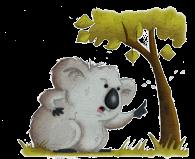 Koala telling off tree