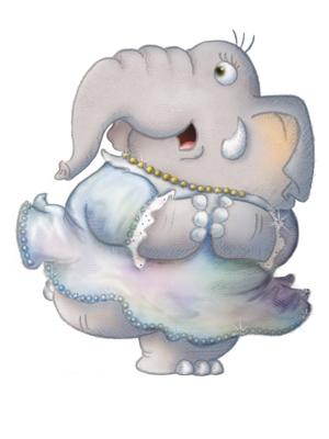 Elephant bridesmaid