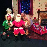 Santa In Love Santa, fairy and elf