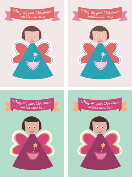 Christmas fairy crafts - fairy tags