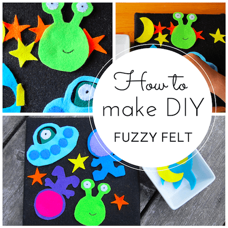 Fuzzy Felt Space Themed how to make