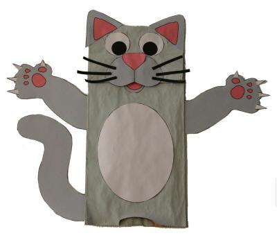 Paper bag cat