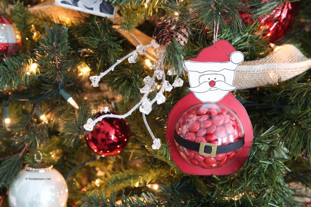 Santa Claus paper ornament