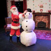 Santa In Love Santa and snowman