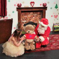 Santa In Love Santa, fairy and teddy bear