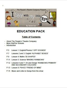 I Spy Education Pack